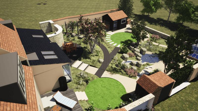 garden design 3d visualisation