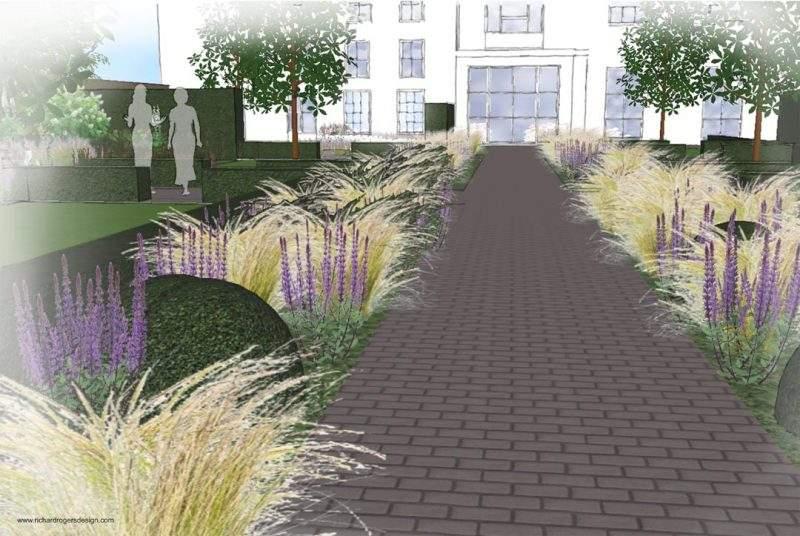 concept design for entrance to wedding venue